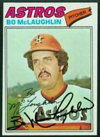 Original Autograph of Bo McLaughlin of the Houston Astros on a 1977 Topps Card