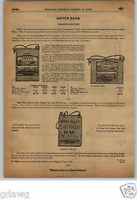 1913 PAPER AD Sahara Sanitary Water Bag Bags Death Valley Cold Water Graphics