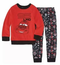 Nwt Boys Size 2 Cars 2 Piece Fleece Top Pajama Pants