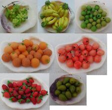 Set 95 Fruit Miniature Dollhouse Grape Orange Mango Strawberry Apple Banana #7.2