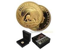 10 $Dólar Great Manchado Kiwi NUEVA ZELANDA 2017 1/4 Onza onza oro pp proof