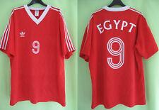 Maillot Egypte #9 Adidas vintage Football Jersey Egypt Shirt Foot - XL