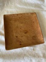 """Vintage Kamani Wood 10"""" x 10"""" Square Shaped Serving Tray, Bowl, Dish, MCM Hawaii"""
