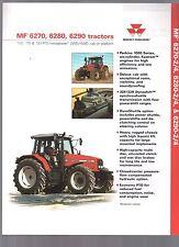 1999 MASSEY FERGUSON TRACTOR MF 6270 6280 6290 BROCHURE 1PG