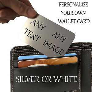 Personalised Aluminium Wallet Card Keepsake Purse Mum Dad Mummy Daddy Photo
