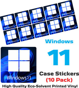 NEW Windows 11 Self Adhesive Badge | Stickers | Decals for Laptops and Desktops