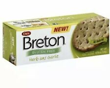 DARE BRETON CRACKER GLUTEN FREE HERB GARLC, 4.76 OZ, (Pack of 6) TASTES GREAT!!