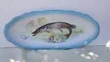 Rare Antique Austria 1800's Fish Plate Platter - Imperial Crown China