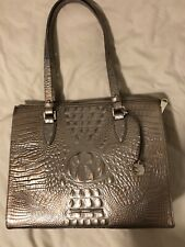BRAHMIN Anywhere Tote Rose Gold Metallic Melbourne Croc Embossed Leather Bag$275