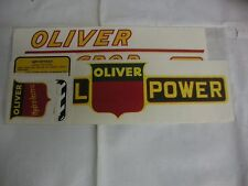 Oliver 77 Row Crop Diesel Yellow Numbers Tractor Decals