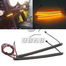 39-54mm Fork LED Turn Signal Strip Amber Light For Harley 883 1200 Victory 40SMD