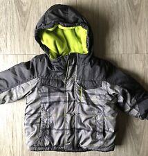 ZeroXposur Baby Boy Winter Jacket Coat Size 18 months Gray Green EUC
