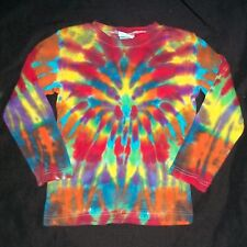 Organic Tie Dye Child Long Sleeve T-Shirt 4T Wild Rainbow Hand Tye Dyed Hippie