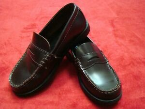 Sperry Top-Sider Boys Size 1 M Colton Burgundy Penny Loafers