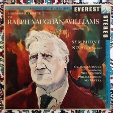 Boult Ralph Vaughan Williams Symphony 9 Everest SDBR 3006 Bellock