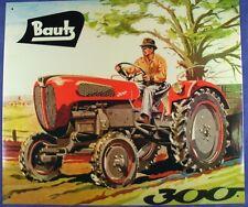 Altes Blechschild Traktor Bautz Bulldog 300 Schlepper Reklame gebraucht used