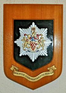 Large Manchester Fire Service plaque shield crest badge Brigade