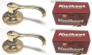 Kwikset Dummy Heavy Duty Leverset Dorian Polished Brass - 2 Pack - 94880-030