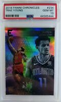 2019 18-19 Panini Chronicles Essentials Trae Young Rookie RC #234, Graded PSA 10
