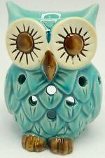 12cm Blue Ceramic Owl Shape Design Tart & Candle & Warmer Potpourri Oil Burner