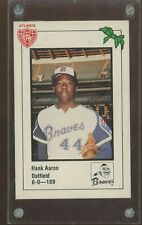 1981 Atlanta Braves PAL Police HANK AARON NM W/ plastic case