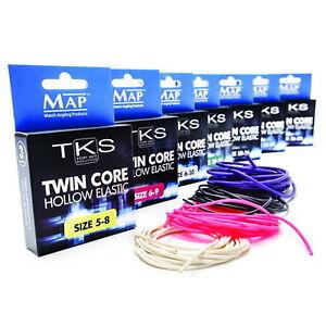 MAP TKS Twin Core Hollow Pole Elastic - Various Sizes & Colours.
