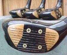 Ben Hogan Golf Clubs Refinish set Woods Driver 3 4 5 w Regular Flex Steel Shafts
