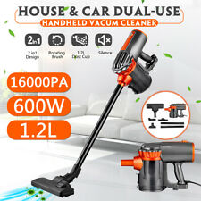 2-in-1 Corded Upright Handheld Stick Vacuum Cleaner 16000Pa Suction Brush Tool