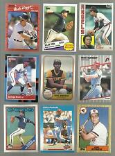 AWESOME LOT OF 100 DIFFERENT BASEBALL HALL OF FAMERS 80S+90S RYAN-RIPKEN MORE!!