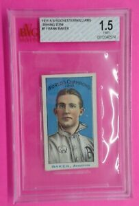 Frank Baker 1911 ROCHESTER BAKING Card #1 Graded 1.5 SUPER RARE!! D359