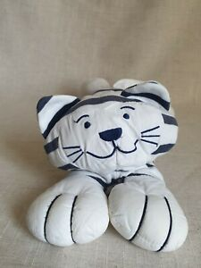 JELLYCAT WHITE BLUE STRIPE LONG COTTON KNITTED Cat KITTEN