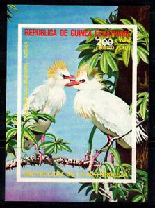 Equatorial Guinea 1976 Mi. Bl. 247 SS 100% MNH birds