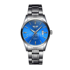 New Men's Watch Stainless Steel Band Date Analog Quartz Sport Wrist Watch US