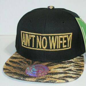 NEW AIN'T NO WIFEY  3 D EMBROIDERED Hat  Flat Bill Cap REGISTER  O  4