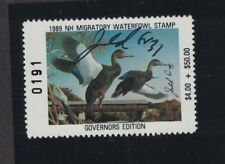 NH7GS - New Hampshire State Duck Stamp.  Governor's Signed Edition . MNH. OG.