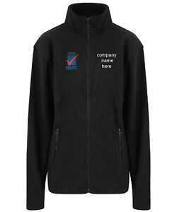 Embroidered micro fleece coat jacket electricians with NAPIT Logo
