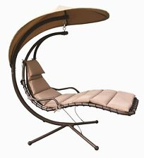 Hammock Chair with Arc Stand / Adjustable Canopy,Metal Frame, Weatherproof