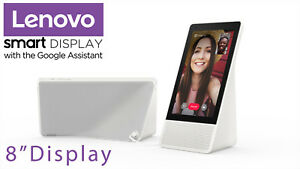 """NEW 8"""" Lenovo Smart Display with the Google Assistant - white front / gray back"""