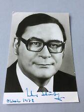 KLAUS SCHÜTZ († 2012) Bürgermeister Berlin  signed Autogrammkarte 10 x 15