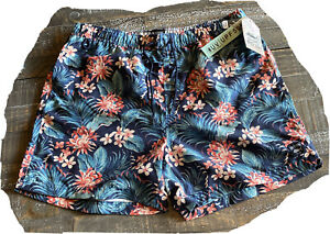Spicy Tuna Floral Print Swim Shorts Lined Men's Sz XL New With Tags Trunks