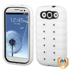 for SAMSUNG GALAXY S 3 III SMARTPHONE WHITE BLACK GRIP ENUFF HYBRID CASE COVER