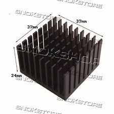 1pcs 37X37X24mm HEAT SINK ALUMINUM for LED CHIP CPU VIDEO DISSIPATORE ALLUMINIO