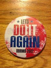 "Original 3"" 2012 President Barack Obama Re-Election Campaign Button Pinback"