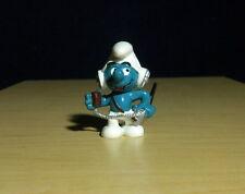 Smurfs CB Operator Smurf Figure W Berrie Radio Head Set Vintage Toy Peyo 20143