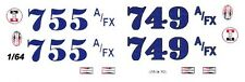 Mickey Thompson's 1963 Tempest 1/64th Ho Scale Slot Car Waterslide Decals