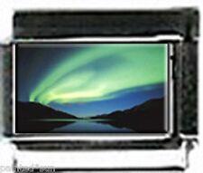 AURORA  BORREALIS northern LIGHTS Alaska Italian 9mm photo CHARMS for Bracelets