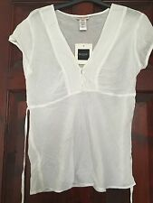 Guess- White Cotton Summer Blouse