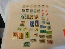Lot of 45 East Germany Stamps 1974-1976 Mushrooms, Cacti, Coaches, Flowers, More