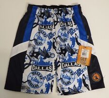 Youth Small Dallas Pro Hoops Athletic Mesh Shorts Blue Flow Society