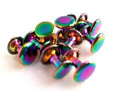 Rainbow double cap rivets, 9mm, 50 pack